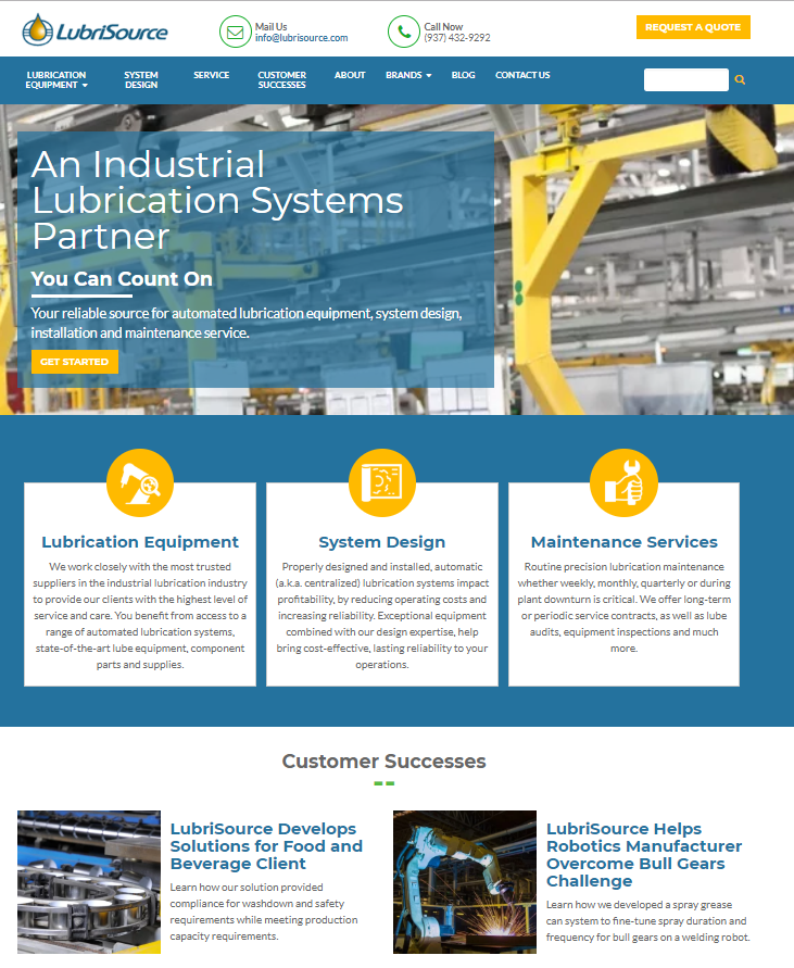 Lubrication System Design, Parts and Service Partner, LubriSource